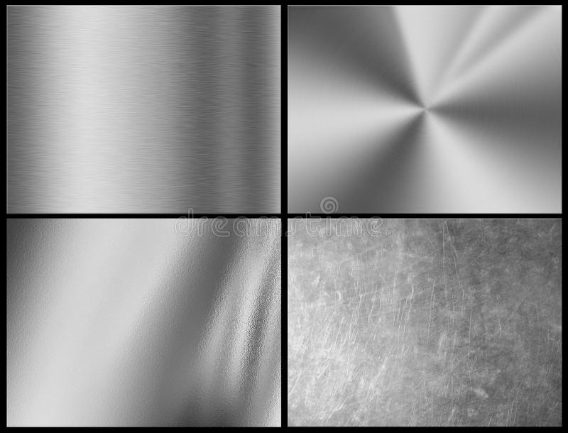 Fondo d'argento di struttura del metallo, struttura del cromo illustrazione di stock