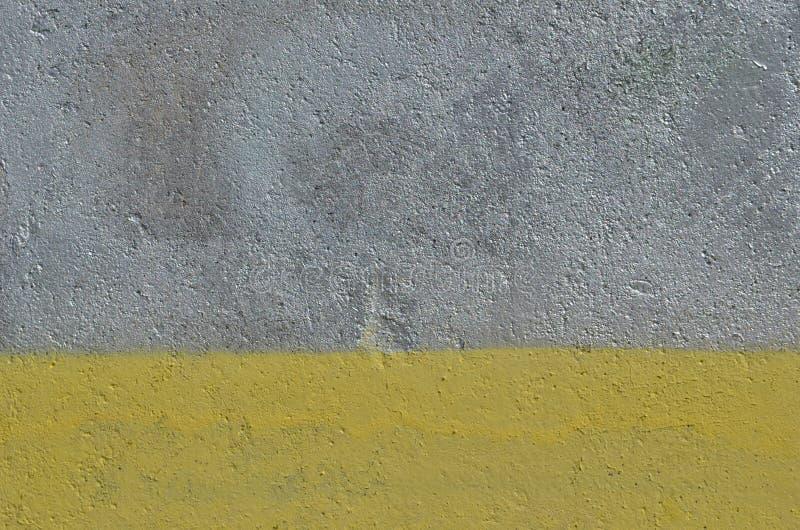 Fondo d'argento e giallo della pittura fotografia stock libera da diritti