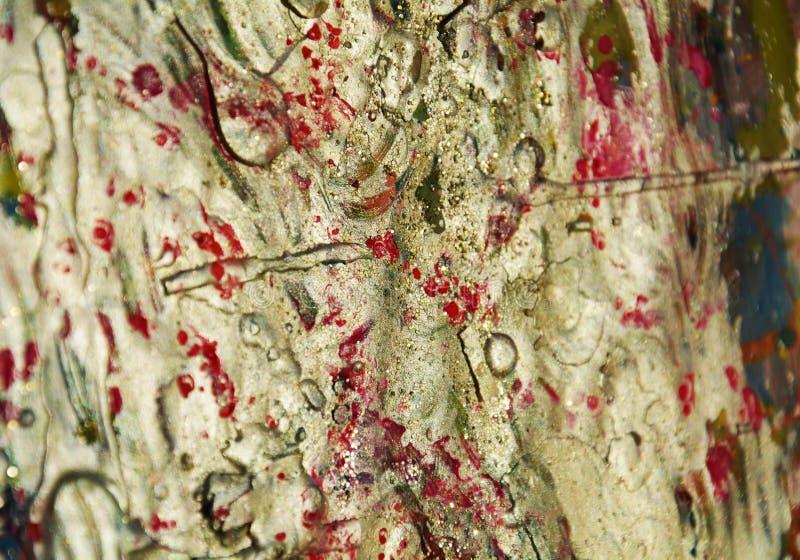 Fondo d'argento organico scintillante, tonalità rosse bianche del fango fotografia stock libera da diritti
