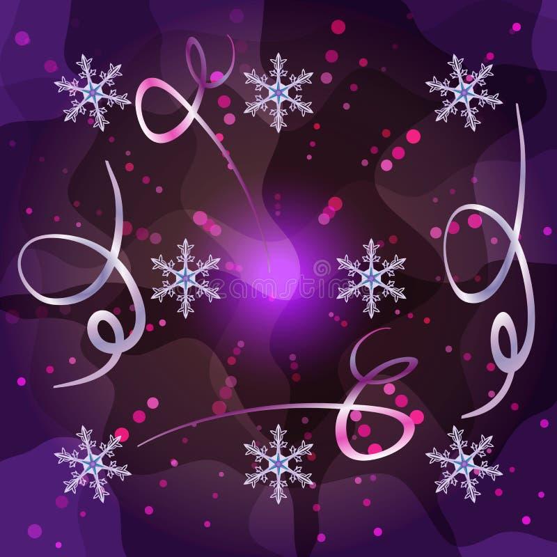 Fondo d'avanguardia del nuovo anno e di Buon Natale royalty illustrazione gratis