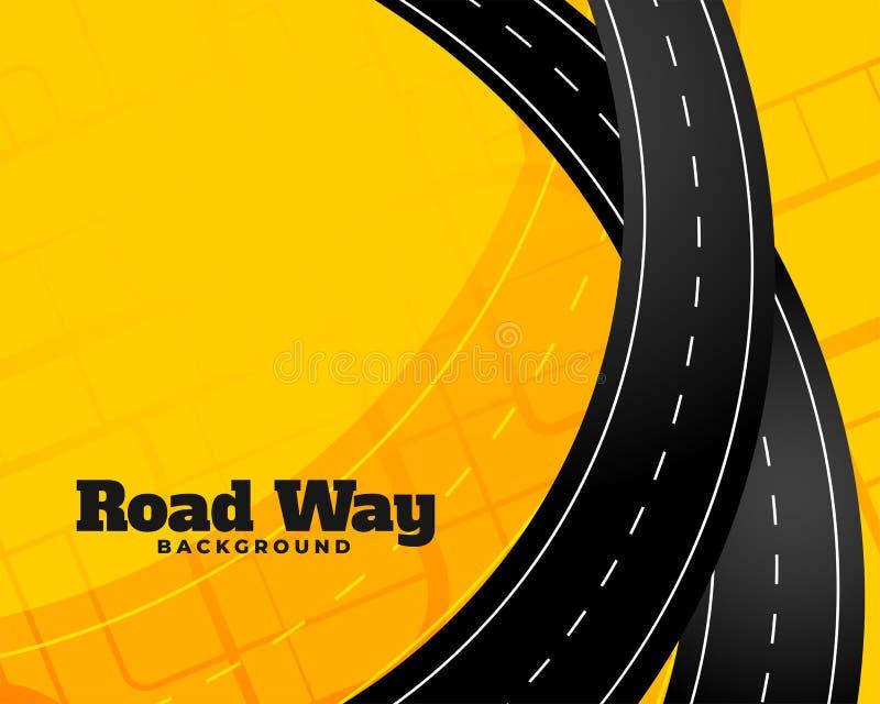 Fondo d'avvolgimento di viaggio stradale di viaggio royalty illustrazione gratis