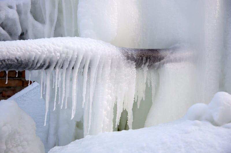 Getti di acqua congelati. fotografia stock