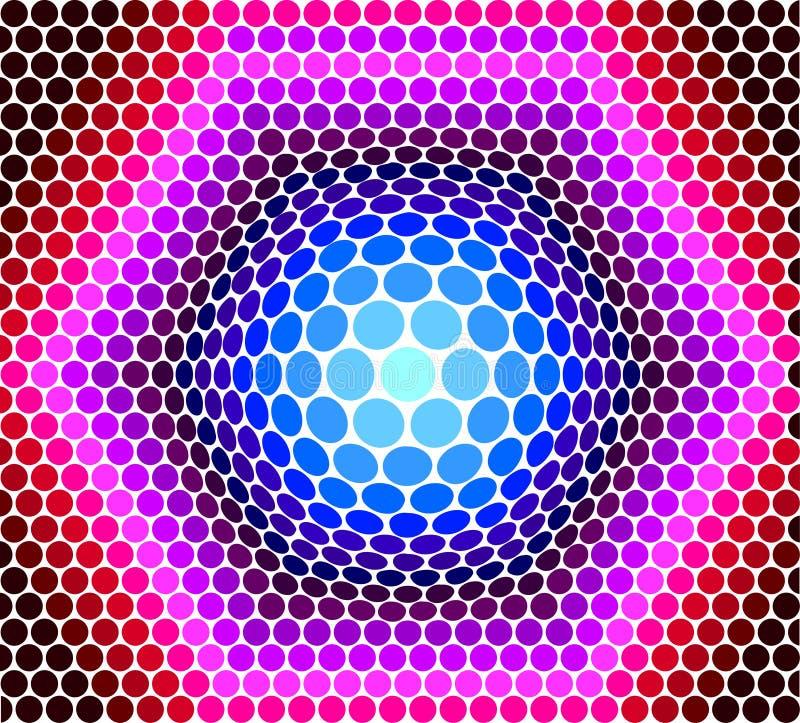 Fondo dai cerchi di colorato multi illustrazione vettoriale