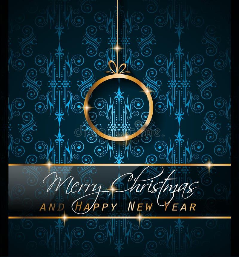 Fondo de 2016 Años Nuevos y de la feliz Navidad para sus aviadores, stock de ilustración
