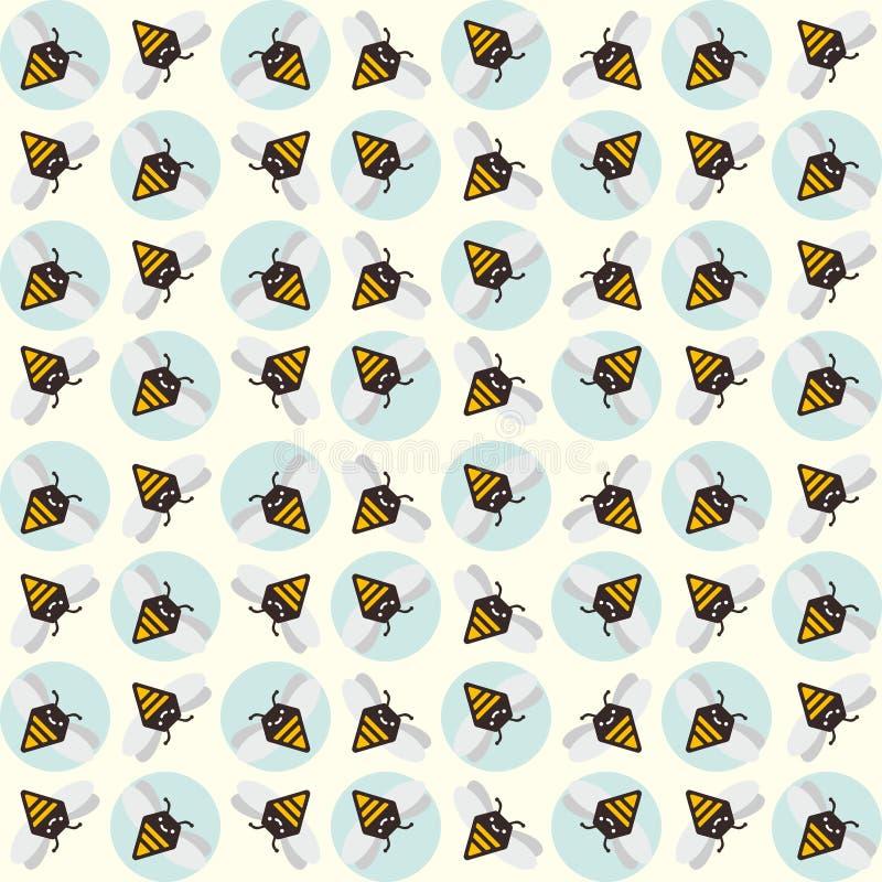 Fondo de abejas abstractas stock de ilustración