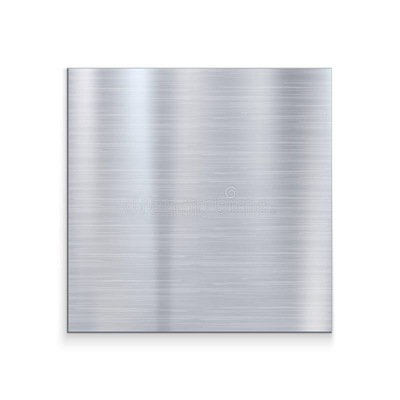 Fondo de acero de aluminio de la textura del metal Textura gris del vector del hierro inoxidable de plata del modelo libre illustration