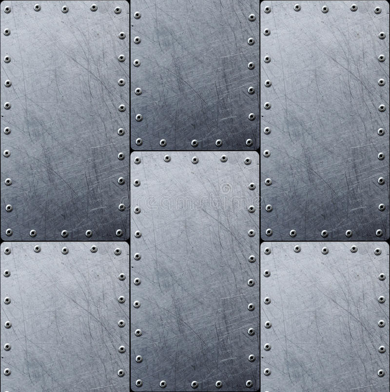 Fondo de acero de la textura del metal para el diseño fotos de archivo
