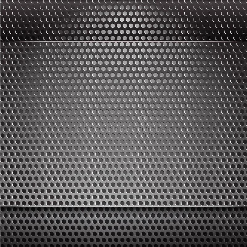 Fondo de acero gris ilustración del vector