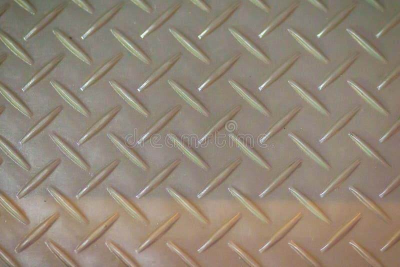 Fondo de acero oxidado de la textura de la placa del diamante Piso sucio del metal imágenes de archivo libres de regalías
