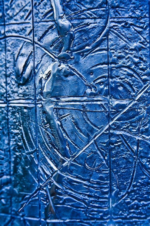 Fondo de acero Textured azul fotos de archivo
