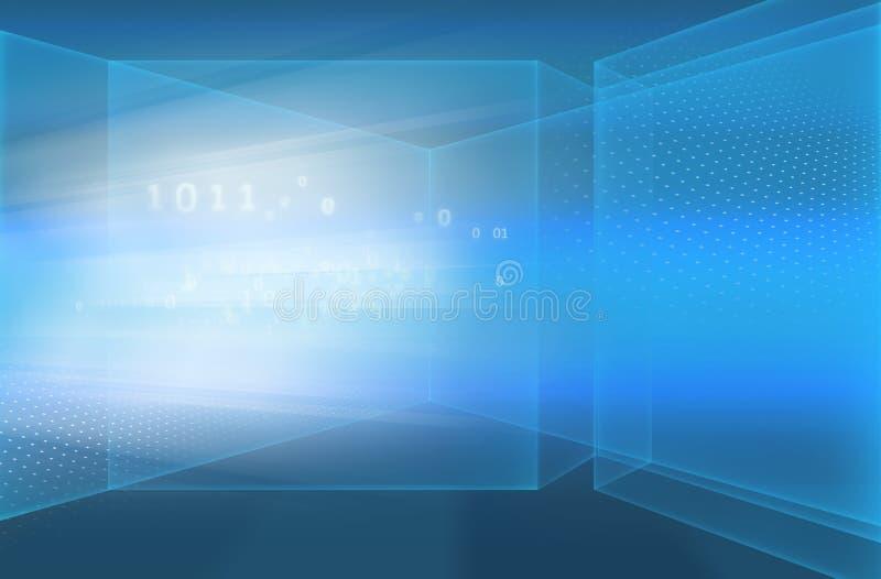 Fondo de alta tecnología abstracto Concep de la tecnología de Digitaces del espacio 3D libre illustration