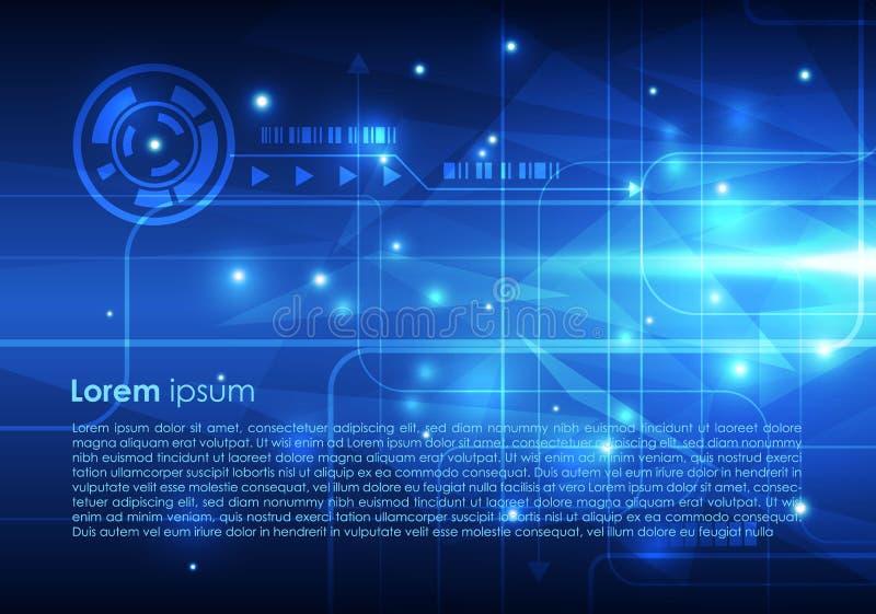 Fondo de alta tecnología abstracto del vector en color azul libre illustration