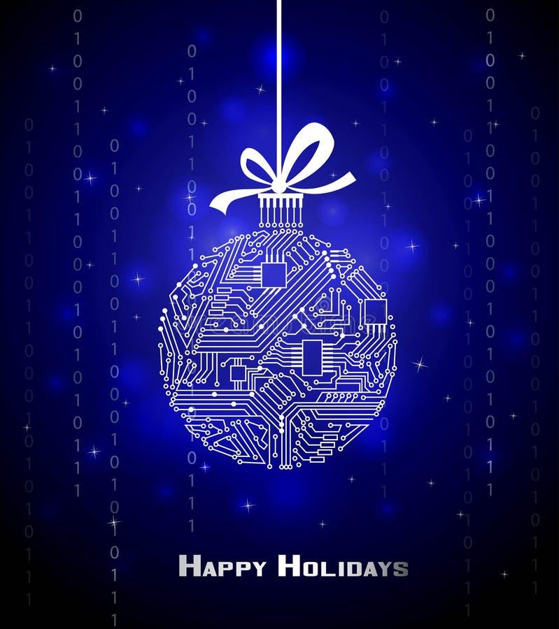 Fondo de alta tecnología de la Navidad libre illustration