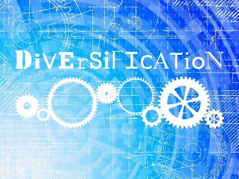 Fondo de alta tecnología de la diversificación ilustración del vector