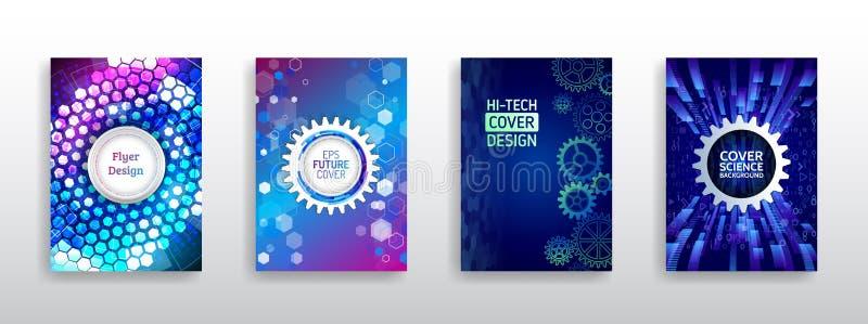 Fondo de alta tecnolog?a de la ciencia y de la innovaci?n ilustración del vector