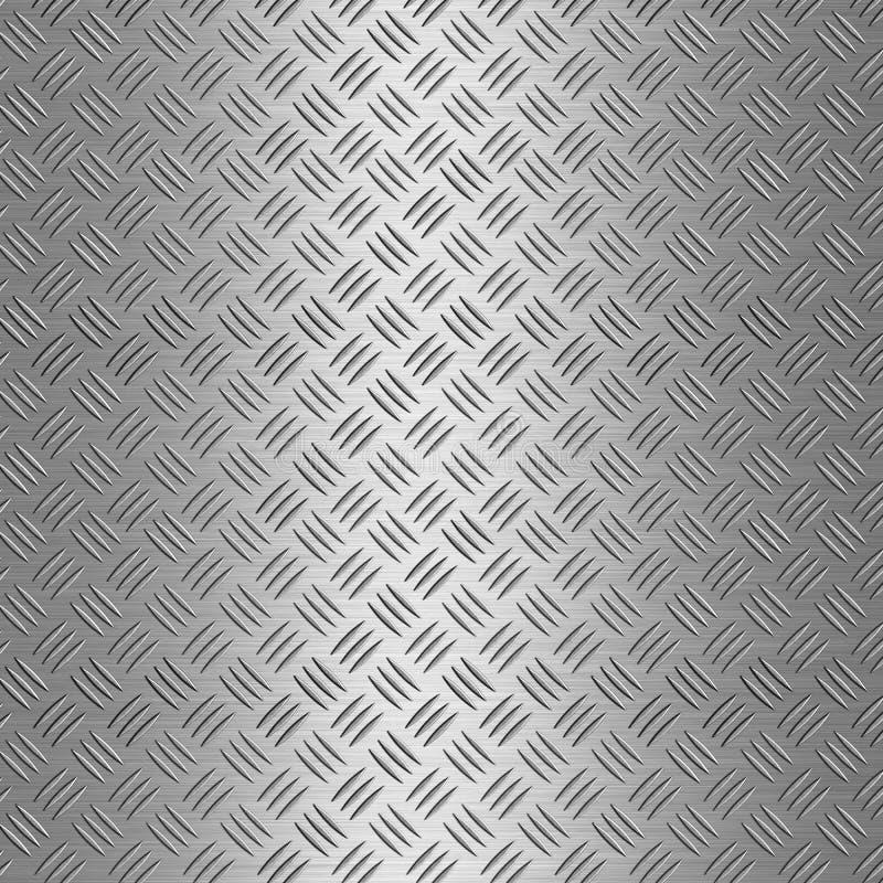 Fondo de aluminio de la placa del diamante stock de ilustración