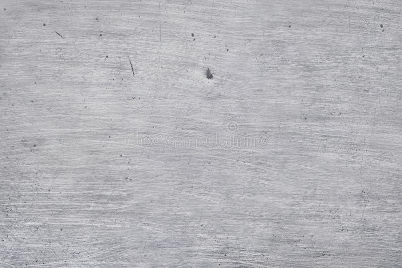 Fondo de aluminio de la textura del metal, rasgu?os en el acero inoxidable pulido fotos de archivo