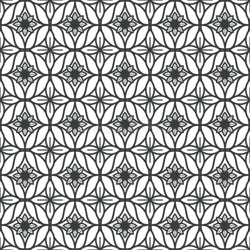 Fondo de Art Deco Seamless Pattern Decorative stock de ilustración