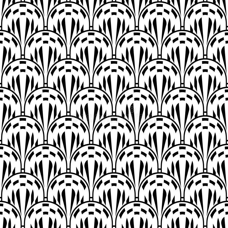 Fondo de Art Deco Seamless Pattern Decorative ilustración del vector