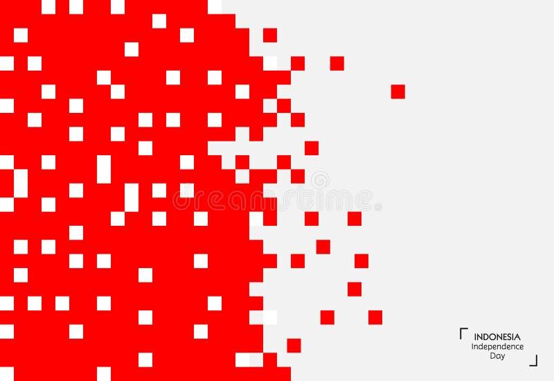 Fondo de 17 August Indonesia Independence Day Ejemplo del vector de las banderas stock de ilustración
