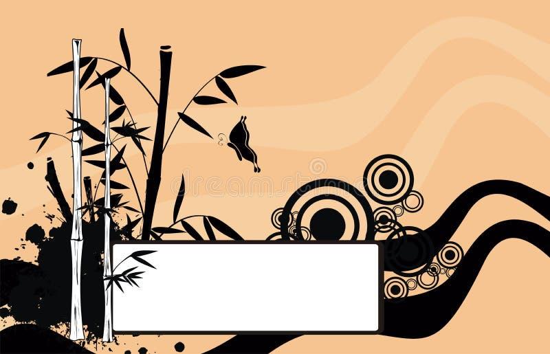 Fondo de bambú japonés asiático 9 del espacio de la copia del tatuaje libre illustration