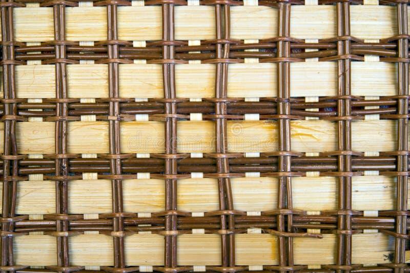 Fondo de bambú de la textura del modelo de la cesta de Brown foto de archivo libre de regalías