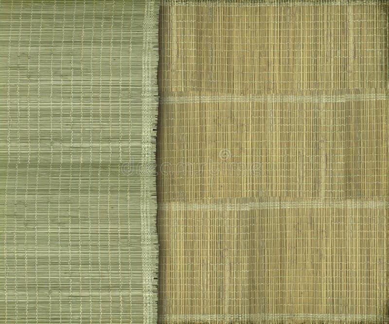 Fondo de bambú verde y amarillo terroso fotografía de archivo libre de regalías