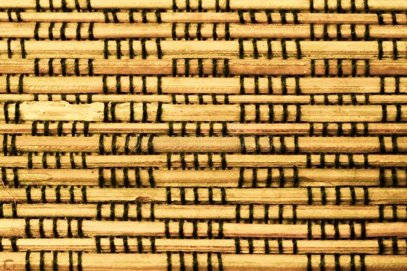 Fondo de bamb? de la textura modelo de madera que teje imagen de archivo libre de regalías