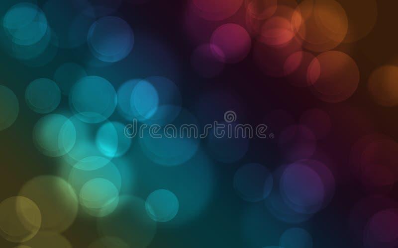 Fondo de Bokeh del arco iris ilustración del vector