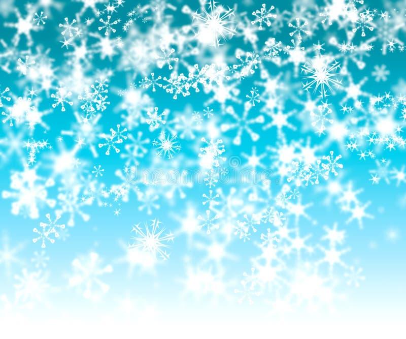 Fondo de Bokeh del copo de nieve de la turquesa ilustración del vector
