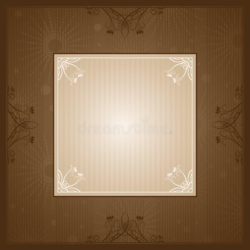 Fondo de Brown con el corazón ilustración del vector