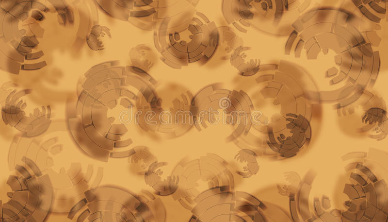 Fondo de Brown con los círculos del gráfico imagen de archivo libre de regalías