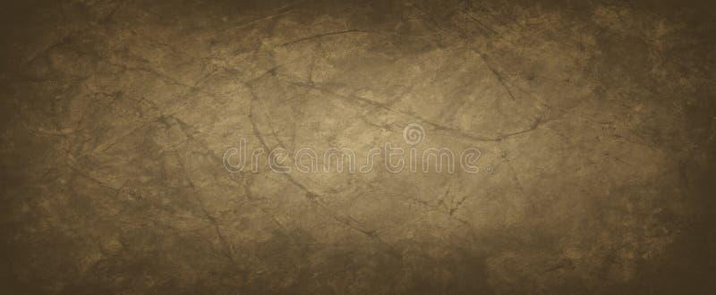 Fondo de Brown con textura arrugada o arrugada del papel en un viejo diseño del vintage, un color terroso y sucio del café oscuro ilustración del vector