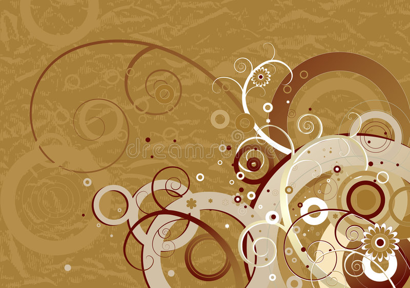 Fondo de Brown, vector ilustración del vector