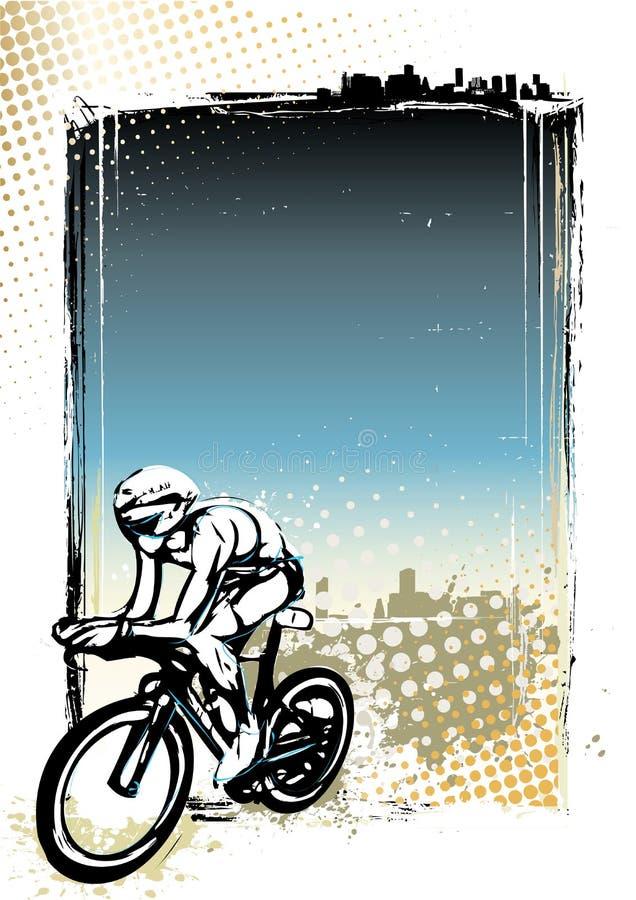 Fondo de ciclo del cartel ilustración del vector