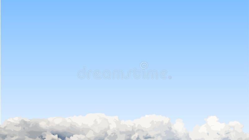Fondo de Cloudscape ilustración del vector