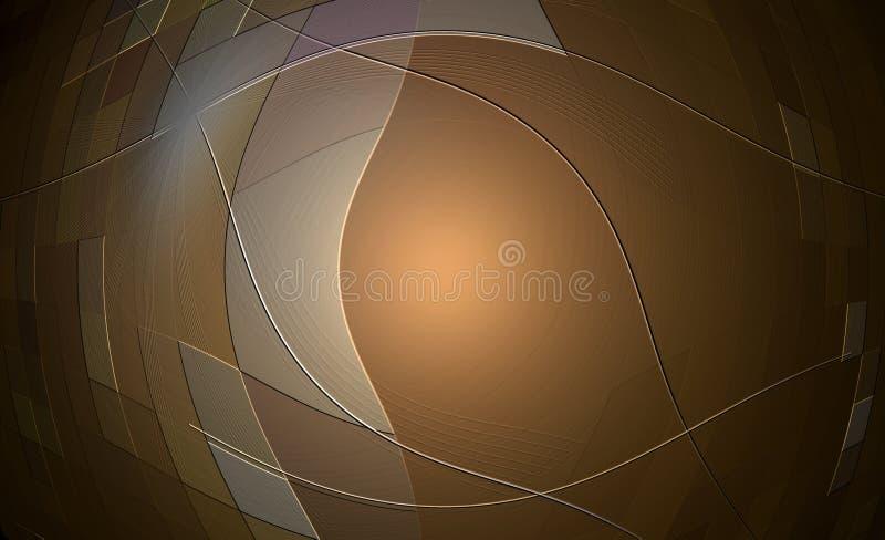 Fondo de cobre abstracto stock de ilustración