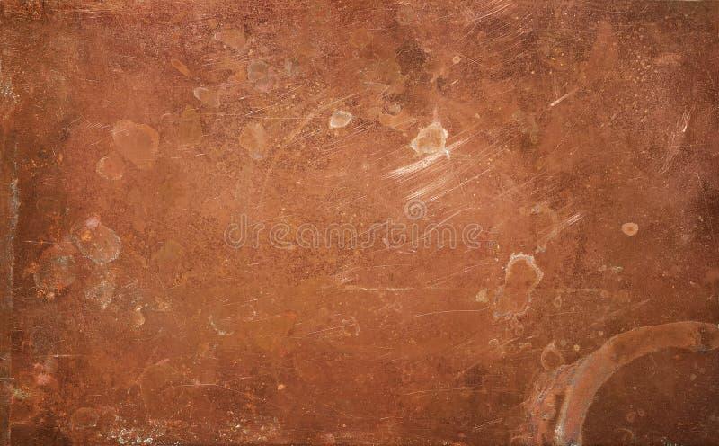 Fondo de cobre resistido imagen de archivo libre de regalías