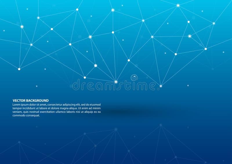 Fondo de conexión abstracto del tema ilustración del vector