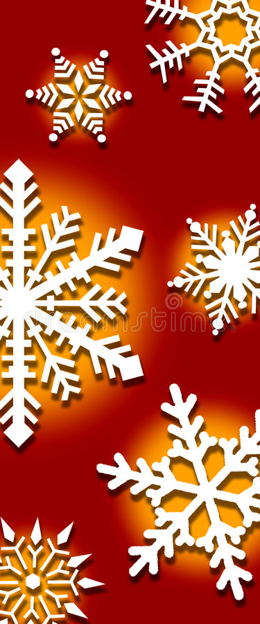 Fondo de copos de nieve ilustración del vector