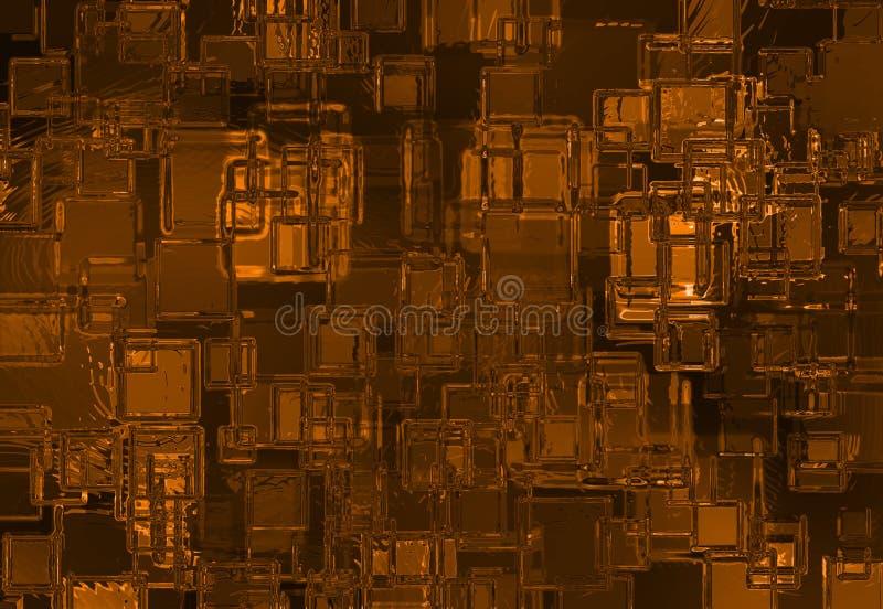 Fondo de cristal abstracto ilustración del vector