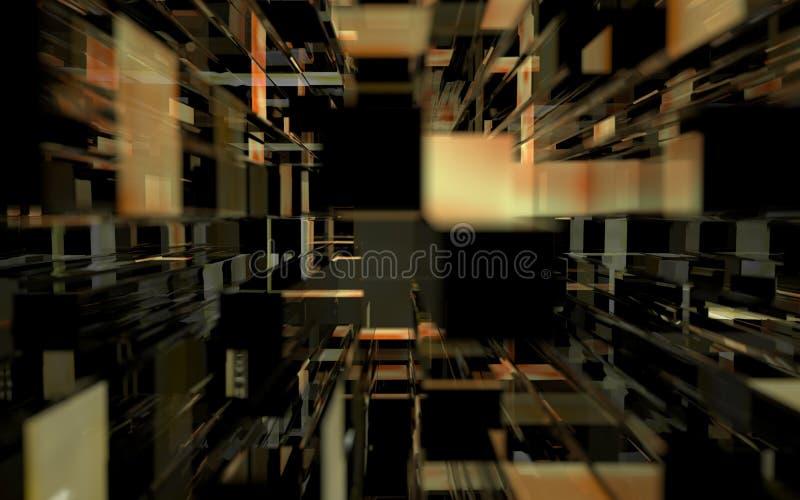 Fondo de cristal abstracto de los edificios stock de ilustración
