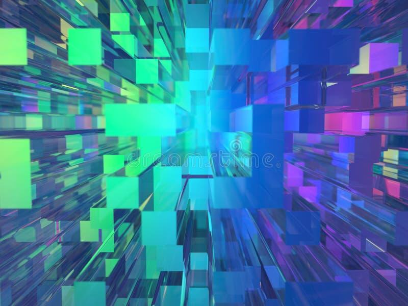 Fondo de cristal abstracto de los edificios ilustración del vector