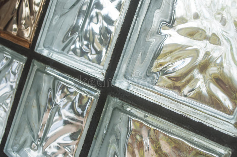 Fondo de cristal de la pared de ladrillo de Coloreful para la arquitectura imagen de archivo