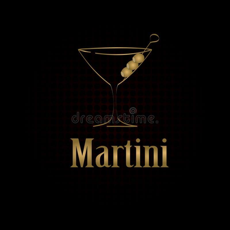 Fondo de cristal del menú del diseño de Martini libre illustration