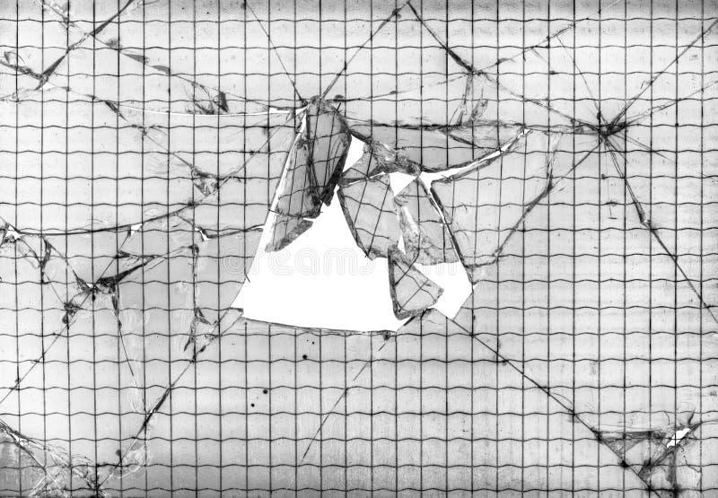 Fondo de cristal roto reforzado fotografía de archivo libre de regalías