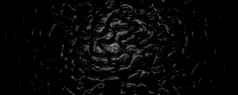 fondo de cuero abstracto ondulado del negro del ejemplo 3d ilustración del vector