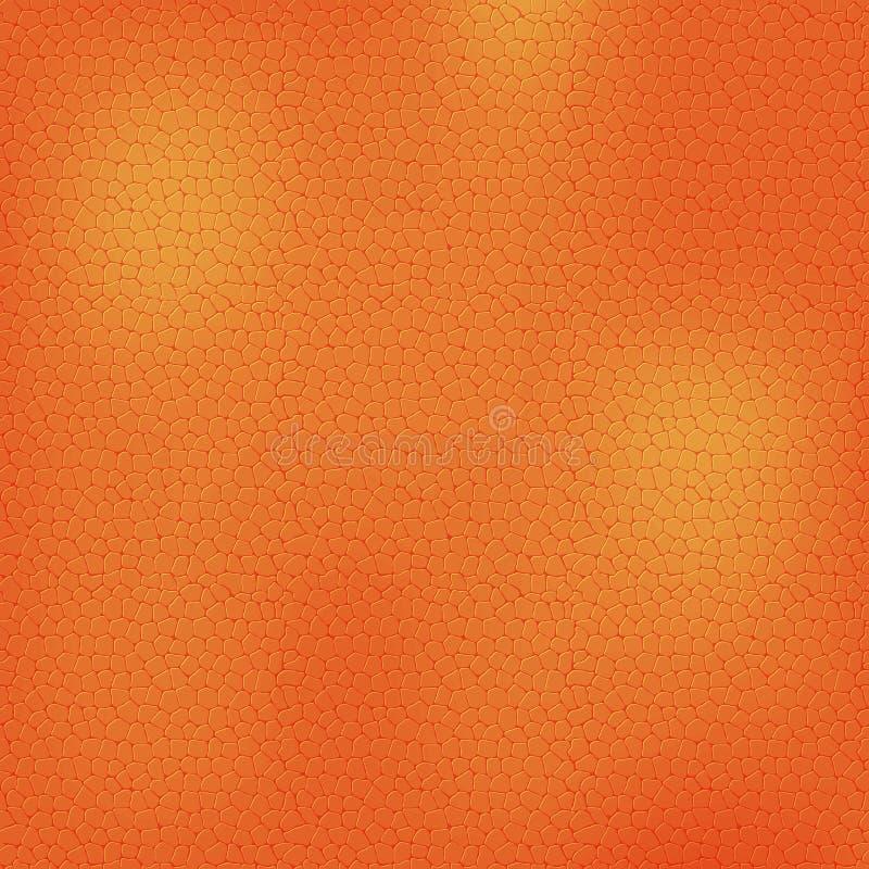Fondo de cuero anaranjado, textura stock de ilustración