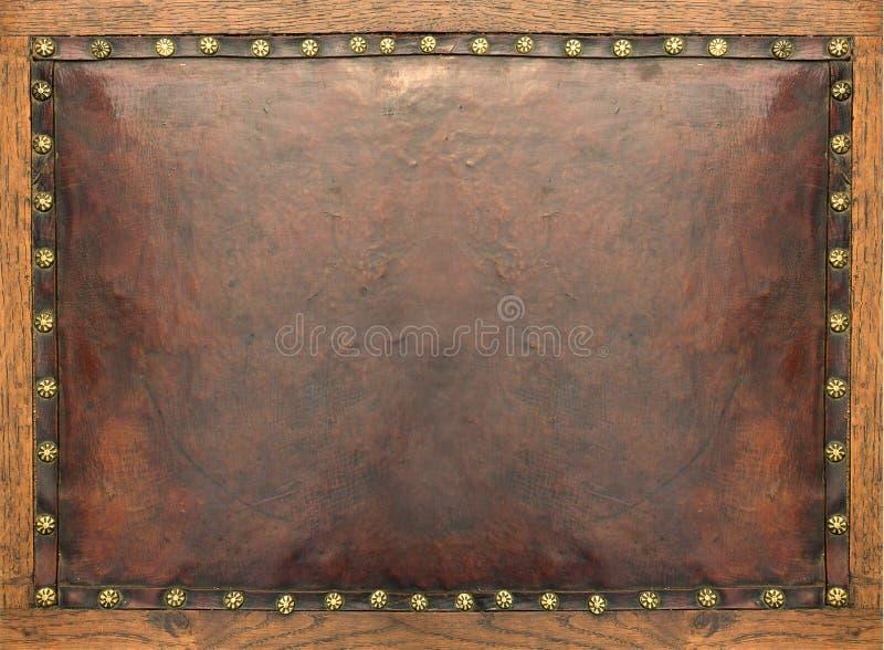 Fondo de cuero antiguo Textura de Grunge fotografía de archivo
