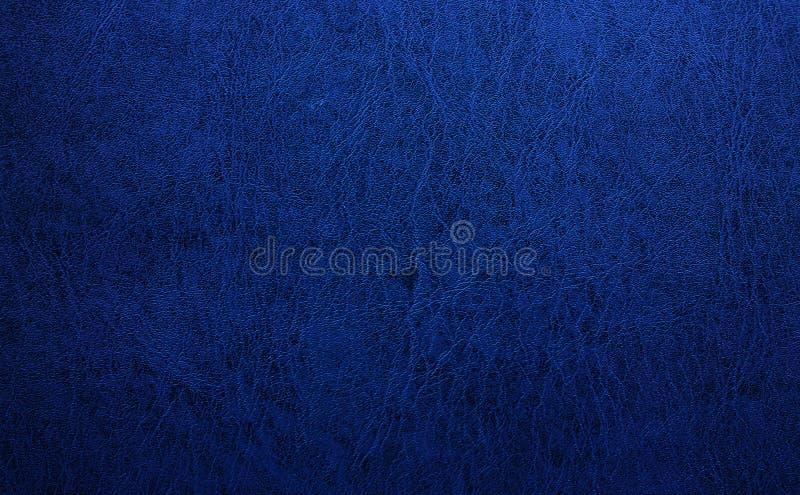 Fondo de cuero azul de la textura fotografía de archivo